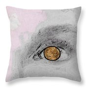 Reflection In A Golden Eye Throw Pillow