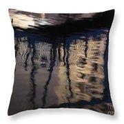 reflection in Eilat marina Throw Pillow