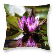 Reflection In Fuchsia Throw Pillow