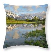 Reflection In Snake River At Grand Teton Throw Pillow