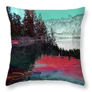 Reflection In The Lake Throw Pillow