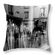 reflection in the Window Throw Pillow