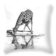 A Tall Drink Of Water Throw Pillow