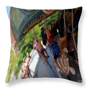 Reflection Of A Merry Go Round Throw Pillow