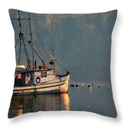 Reflections Of A Nautical Timepiece Throw Pillow