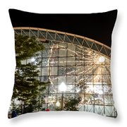 Reflection Of Navy Pier Ferris Wheel Throw Pillow