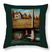 Reflection Of Protection. Throw Pillow