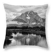 Reflection Of Signal Mountain Throw Pillow
