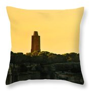 Reflection Of Sunset At North Head Throw Pillow
