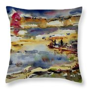 Reflection Of Sunset Glow Throw Pillow