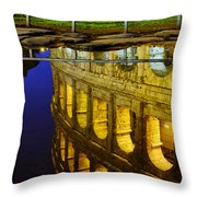 Reflection Of The Colosseum Throw Pillow