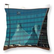 Reflection Of The Mountains Throw Pillow