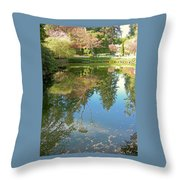 Reflection Of Trees Throw Pillow