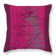 Reflection Of You Throw Pillow