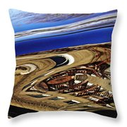 Reflection On A Parked Car 11 Throw Pillow