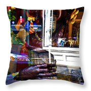 Reflection On Jazz Throw Pillow