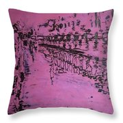 Reflection On Rose Throw Pillow