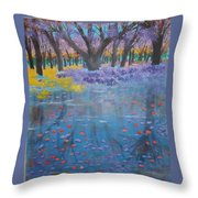 Reflection Pond Japan Throw Pillow