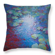 Reflection Pond With Liles Throw Pillow