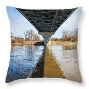 Reflection Shadow In Missouri River Throw Pillow