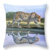 Reflection Stalk Throw Pillow