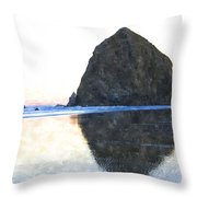 Reflection Upon The Sand Throw Pillow