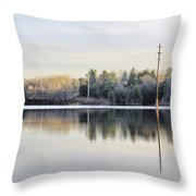 Reflections Across The Water Throw Pillow