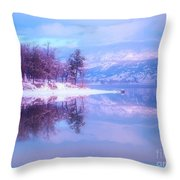 Reflections Along Highway 97 Throw Pillow