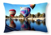 Reflections Along The Channel Throw Pillow