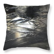Reflections And Dark Ice #2  Throw Pillow