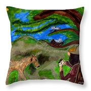 Reflections And Prayer Of St. Francis Throw Pillow