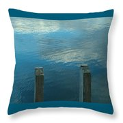 Reflections At Granite Pier Throw Pillow