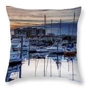 Reflections At Sunset Throw Pillow