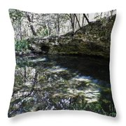 Reflections At The Grotto Throw Pillow