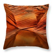 Reflections At The Wave Throw Pillow