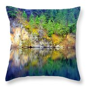 Reflections At Yellow Lake Moments Before The Rain Throw Pillow