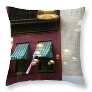 Reflections Building Nyc  Throw Pillow