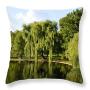 Reflections Throw Pillow by Corinne Rhode