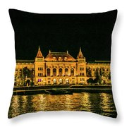 Reflections From Budapest University Throw Pillow