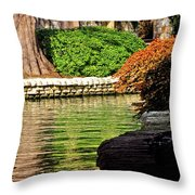 Reflections From The Riverwalk Throw Pillow