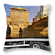 Reflections In Budapest Throw Pillow