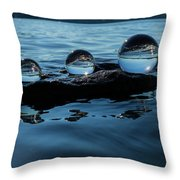 Reflections In Crystal Throw Pillow