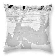Reflections In Dressage Throw Pillow