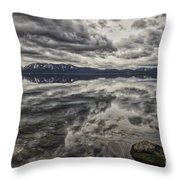 Reflections In Gray Throw Pillow