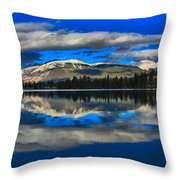 Reflections In Lac Beauvert Throw Pillow