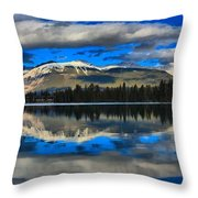 Reflections In Lake Beauvert Throw Pillow