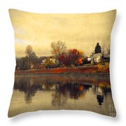 Reflections In Nakusp Throw Pillow