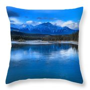 Reflections In The Athabasca Throw Pillow