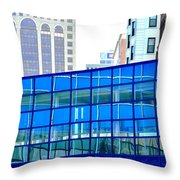 Reflections In The City Throw Pillow