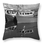 Reflections In The Harbour Throw Pillow
